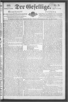 Der Gesellige : Graudenzer Zeitung 1891.01.18, Jg. 65, No. 15