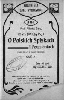 Zapiski o polskich spiskach i powstaniach. Cz. 10