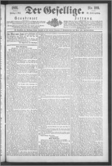 Der Gesellige : Graudenzer Zeitung 1891.05.01, Jg. 65, No. 100