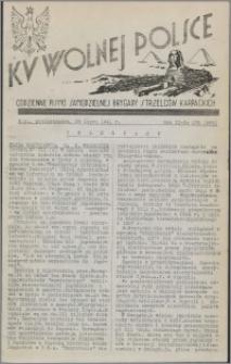 Ku Wolnej Polsce : codzienne pismo Samodzielnej Brygady Strzelców Karpackich 1941.07.28, R. 2 nr 179 (285)