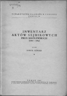 Inventarium actorum conventualium Terrarum Prussiae