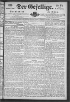 Der Gesellige : Graudenzer Zeitung 1891.08.02, Jg. 66, No. 178