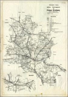 Regierungsbezirk Bromberg amtliche Entfernungskarte des Kreises Bromberg