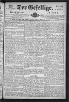 Der Gesellige : Graudenzer Zeitung 1891.10.31, Jg. 66, No. 255