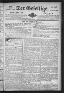 Der Gesellige : Graudenzer Zeitung 1891.12.31, Jg. 66, No. 305