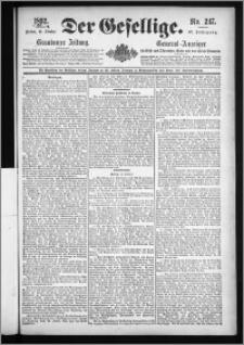 Der Gesellige : Graudenzer Zeitung 1892.10.21, Jg. 67, No. 247