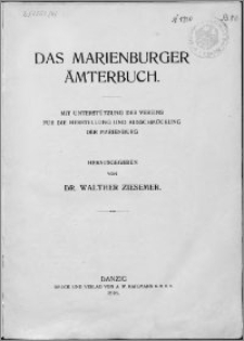 Das Marienburger Ämterbuch
