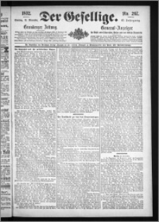 Der Gesellige : Graudenzer Zeitung 1892.11.13, Jg. 67, No. 267