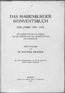 Das Marienburger Konventsbuch der Jahre 1399-1412