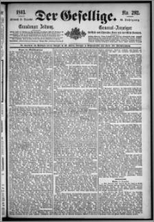 Der Gesellige : Graudenzer Zeitung 1893.12.13, Jg. 68, No. 292