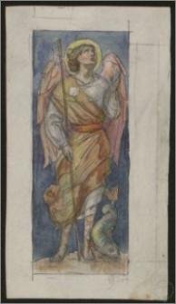 Archanioł z rybą - szkic do polichromii