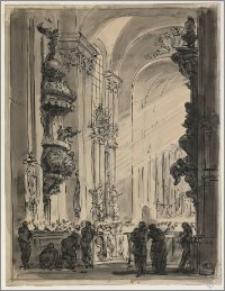 Kazanie I (Wnętrze kościoła barokowego)