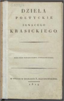 Dzieła poetyckie Ignacego Krasickiego