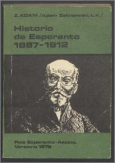 Historio de esperanto 1887-1912 : [verko premita en konkurso de la organiza Komitato de la VII-a Internacia Esperantista Kongreso, Antwerpen 1911]