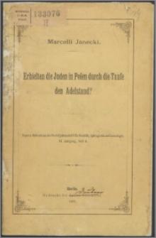 Erhielten die Juden in Polen durch die taufe den Adelstand?
