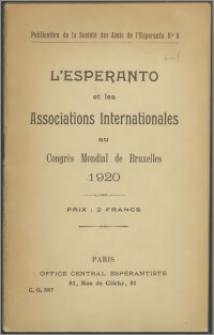 Esperanto et les associations internationales au Congrès mondial de Bruxelles 1920