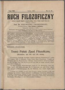 Ruch Filozoficzny 1935, T. 13 nr 5-10