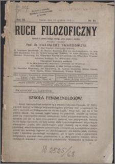 Ruch Filozoficzny 1913, T. 3 nr 10