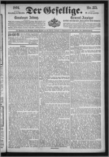 Der Gesellige : Graudenzer Zeitung 1894.11.24, Jg. 69, No. 275