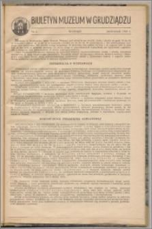 Biuletyn Muzeum w Grudziądzu październik 1960, nr 5