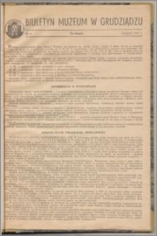 Biuletyn Muzeum w Grudziądzu listopad 1960, nr 6