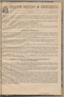 Biuletyn Muzeum w Grudziądzu grudzień 1960, nr 7