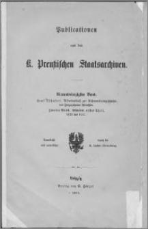 Urkundenbuch zur Reformationsgeschichte des Herzogthums Preußen. Bd. 2, Urkunden. T. 1, 1523 bis 1541