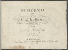 Scherzo : composé par ... : arrangé pour le Pianoforte à 4 mains : de l'Oeur. 59