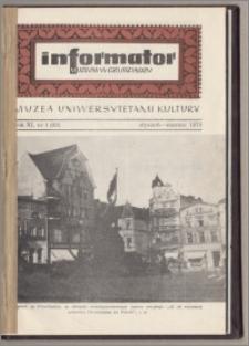 Informator Muzeum w Grudziądzu styczeń-marzec 1970, Rok XI nr 1 (83)