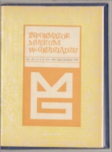 Informator Muzeum w Grudziądzu lipiec-grudzień 1974, Rok XV nr 3-4 (101-102)