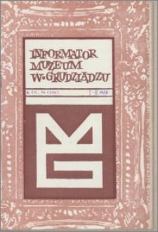 Informator Muzeum w Grudziądzu styczeń-marzec 1978, Rok XIX nr 1 (115)