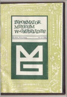 Informator Muzeum w Grudziądzu lipiec-wrzesień 1983, Rok XXIV nr 3 (133)