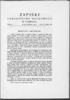 Zapiski Towarzystwa Naukowego w Toruniu, T. 10 nr 11/12, (1937)