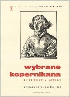 [Plakat. Inc.:] Wybrane Kopernikana ze zbiorów w Szwecji : Muzeum Okręgowe w Toruniu, wystawa luty-marzec 1969.