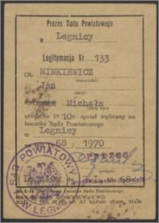 Legitymacja ławnika Sądu Powiatowego w Legnicy