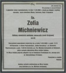 Nekrolog Zofii Michniewicz