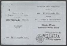 Legitymacja Odznaki XV-lecia Wyzwolenia Dolnego Śląska
