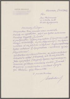 List do Jana Malinowskiego