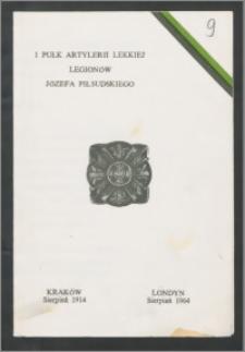Program Święta Pułkowego w 50-tą rocznicę powstania 1 Pułku Artylerii Lekkiej Legionów Józefa Piłsudskiego, Londyn, 2 – 3 sierpnia 1964 r.