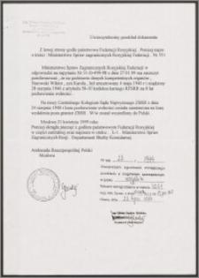 Kserokopia uwierzytelnionego przekładu dokumentu