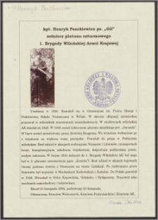 "Henryk Paszkiewicz, ps. ""Gil"" [biografia]"