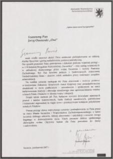Podziękowania od Marszałka Województwa Zachodniopomorskiego
