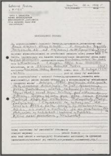 Oświadczenie naocznego świadka potwierdzającego przynależność Zbigniewa Romualda Podrez Kisielewskiego do AK