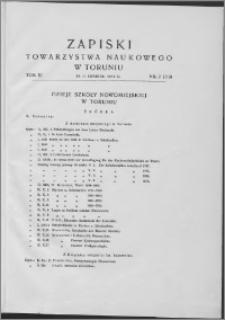 Zapiski Towarzystwa Naukowego w Toruniu, T. 11 nr 2, (1938)