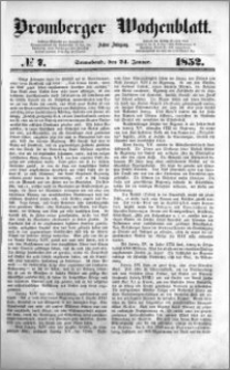 Bromberger Wochenblatt 1852.01.24 nr 7