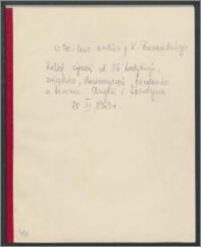 Kofret z życzeniami dla p. dr. Karola Poznańskiego z okazji Jego Jubileuszu 70 – lecia, obchodzonego w Londynie w 1963 roku