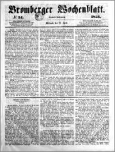 Bromberger Wochenblatt 1853.04.27 nr 34