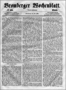 Bromberger Wochenblatt 1853.05.28 nr 43