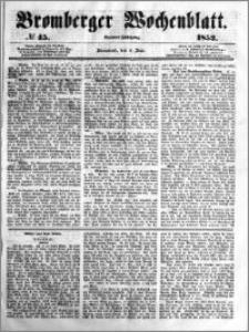 Bromberger Wochenblatt 1853.06.04 nr 45