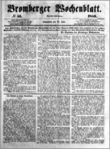 Bromberger Wochenblatt 1853.06.25 nr 51
